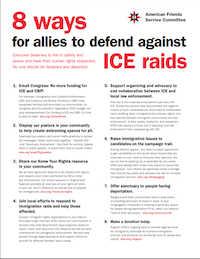 Stop ICE Raids | American Friends Service Committee