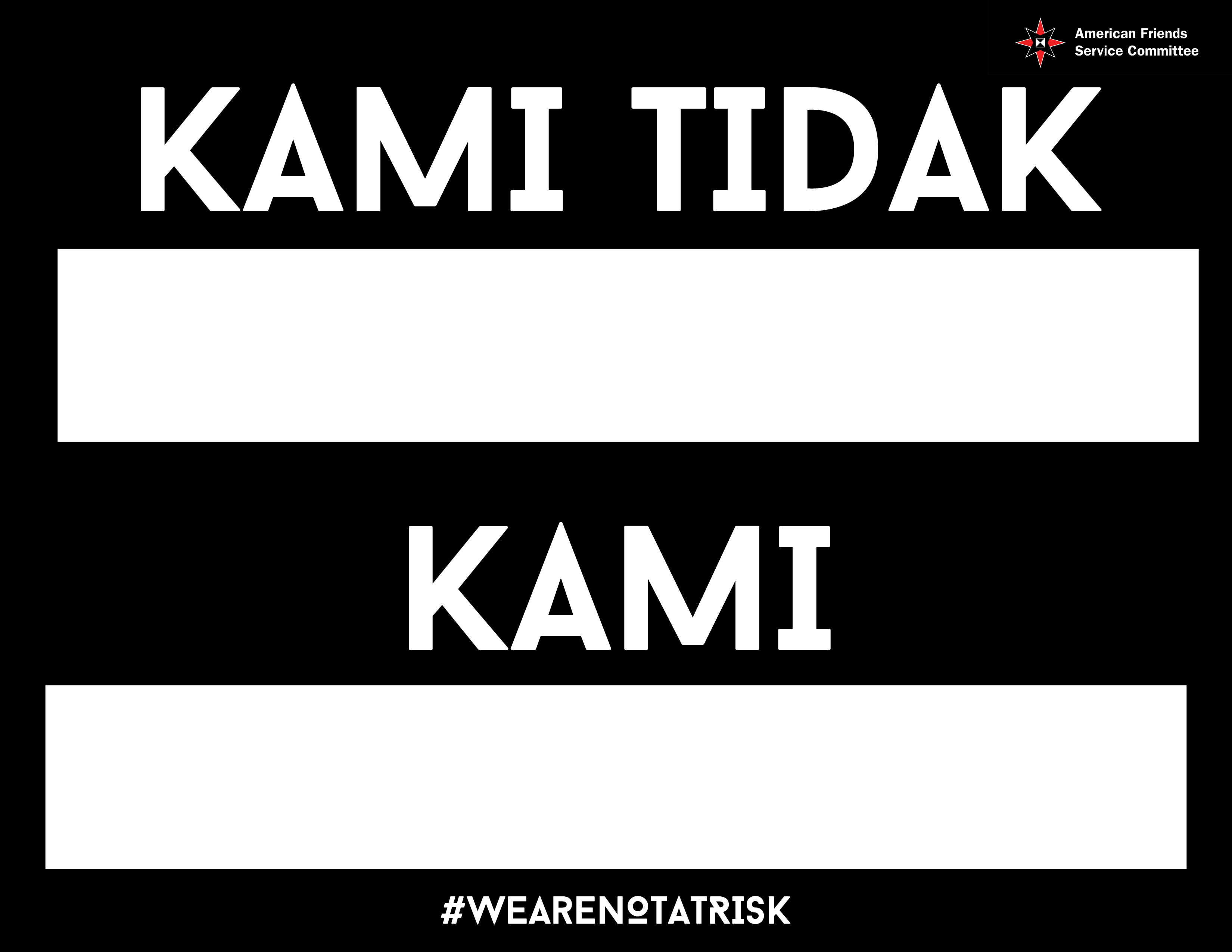 We are not at risk sign_Indonesian