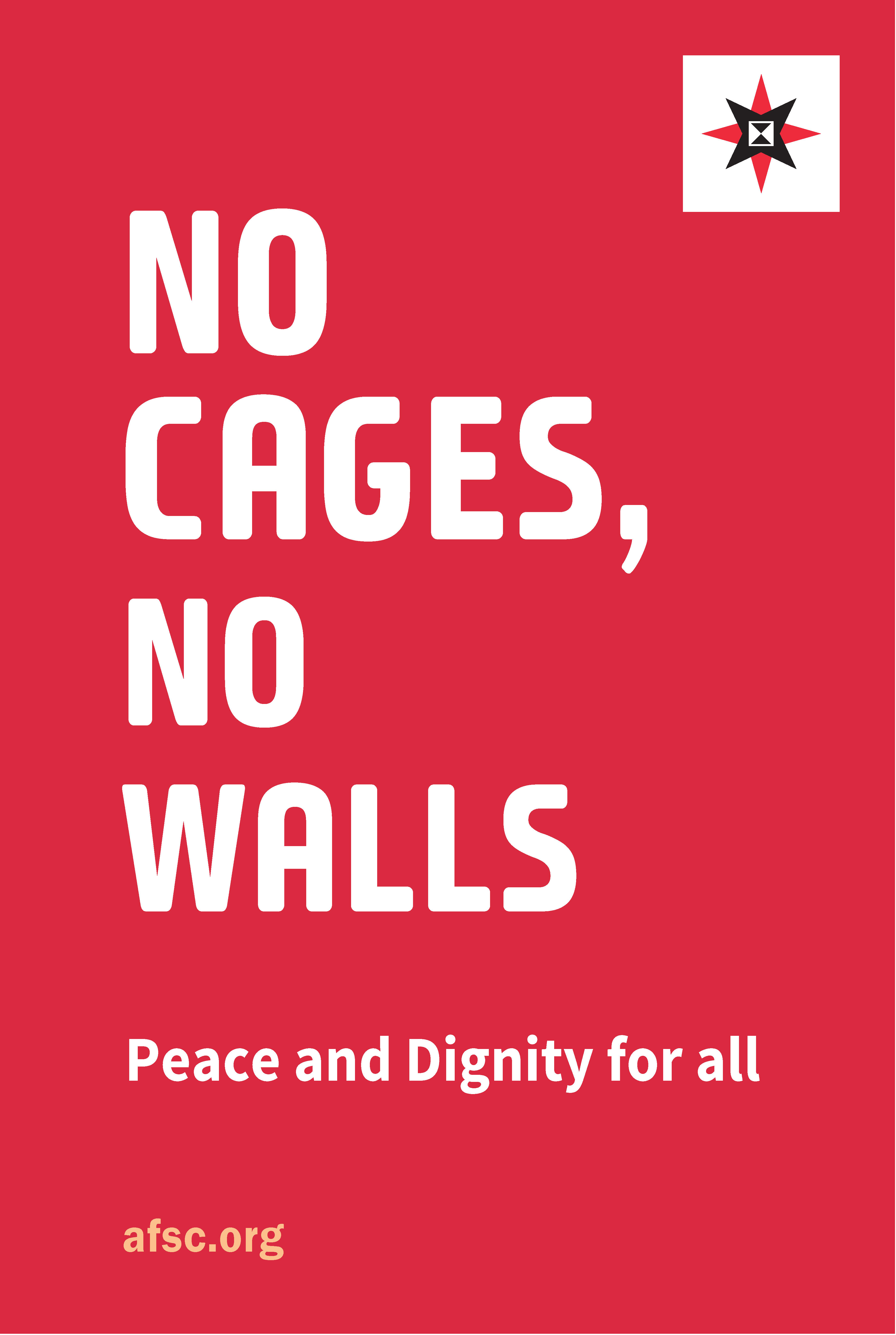 """No cages"" poster"