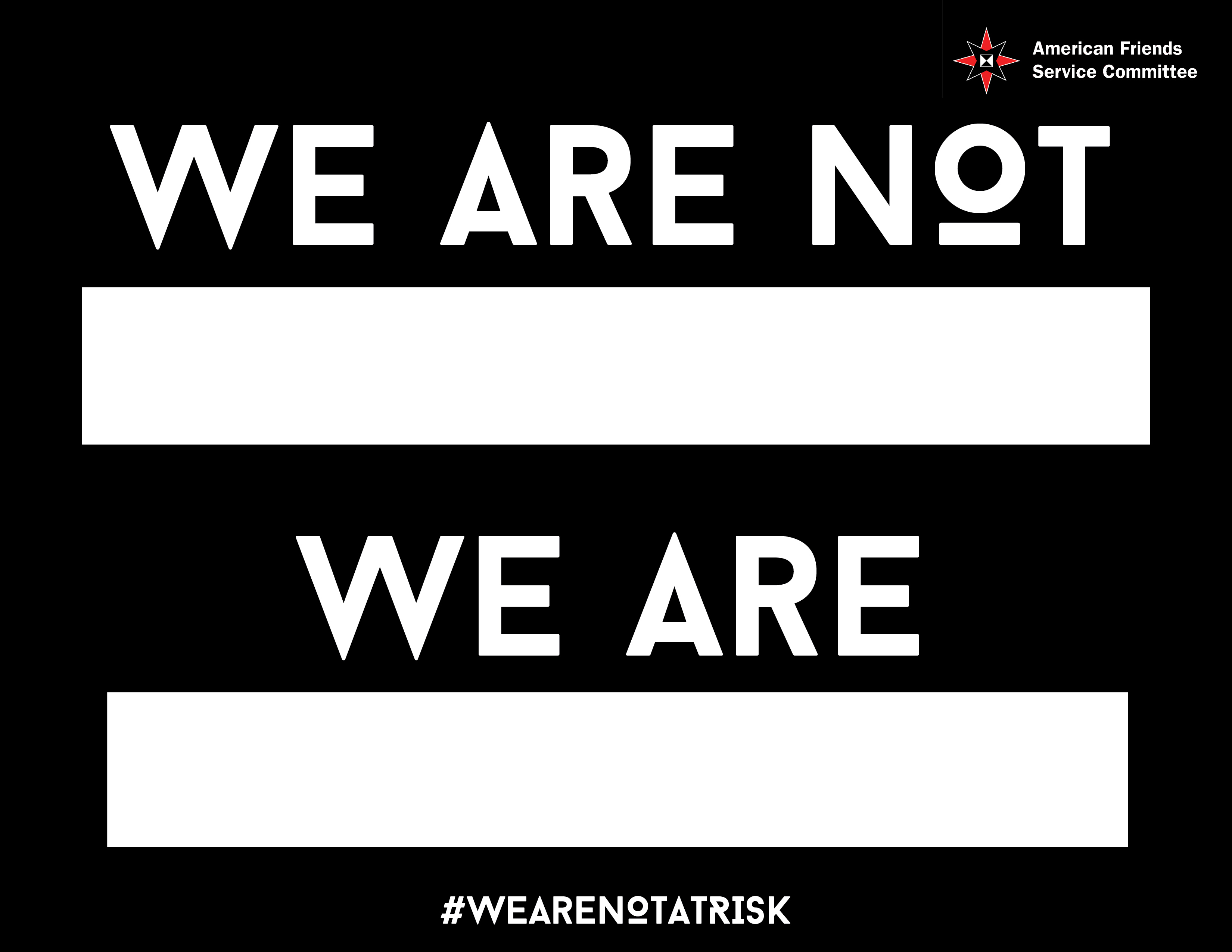 We are not at risk sign_English