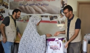 3rd round of Gaza elders material distribution