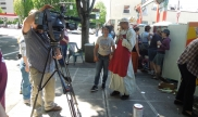 Interview for TV news in Portland, Oregon
