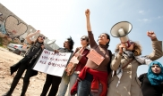 Palestinians March on International Women's Day in 2012