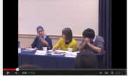 Video screenshot of people testifying at capitol hill