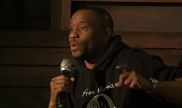 Marc Lamont Hill giving a speech in Philadelphia