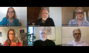 Image from a webinar featuring six participants