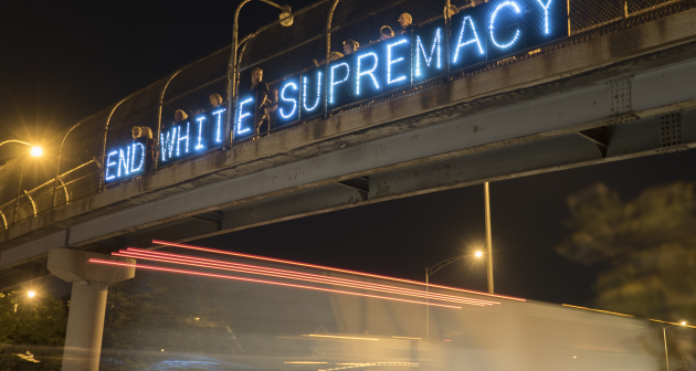 End white supremacy light brigade by Joe Brusky