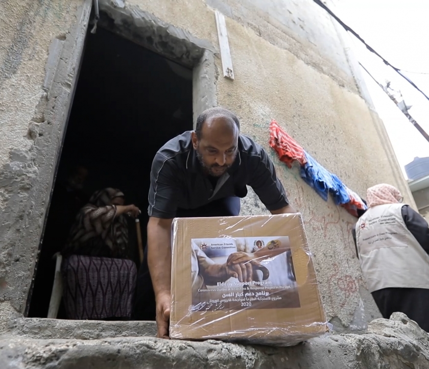 Providing aid to Palestinians during COVID-19