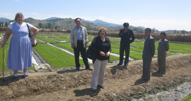 Photo of an AFSC delegation visiting North Korea in May, 2015