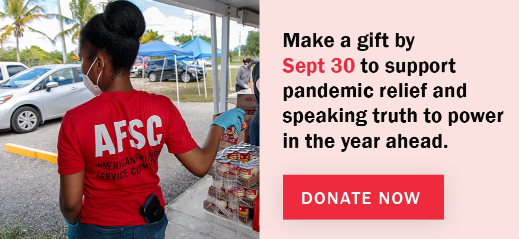 Make a gift by Sept 30 to support pandemic relief and speak truth to power in the year ahead