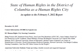 2015 DC Human Rights City Report Cover