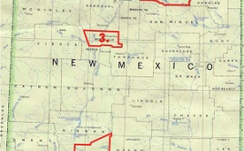 Map of counties where AFSC's New Mexico program operates
