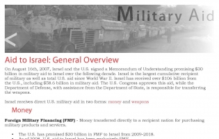 Flyer about military aid