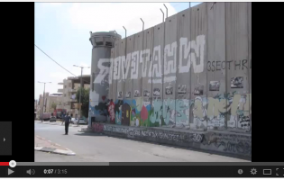 Wall in Palestine with graffiti