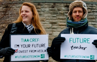Students protest TIAA-CREF