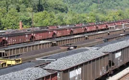 Rail yard in Williamson, West Virginia.