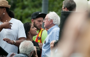 Black Lives Matter activist and Bernie Sanders