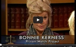 Screenshot from video featuring Bonnie Kerness
