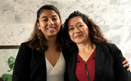 Liane and her mother Juana in DC