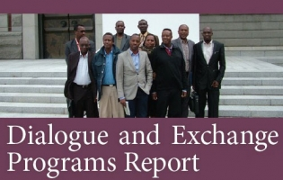 """Image of """"Dialog and Exchange Program Report"""" cover"""