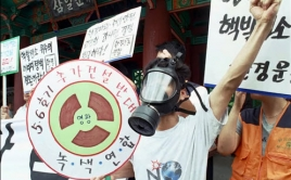 nuclear protest gas mask