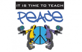"""Teach the Peace"" logo"