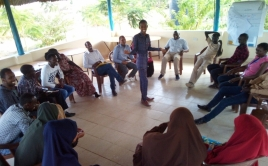 participants sitting in a circle