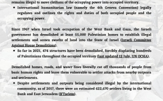 Forced displacement and home demolitions handout