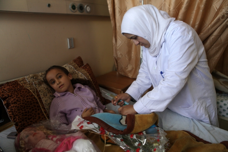 Health care worker in Gaza