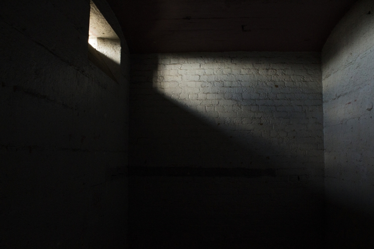 light coming into prison cell through window
