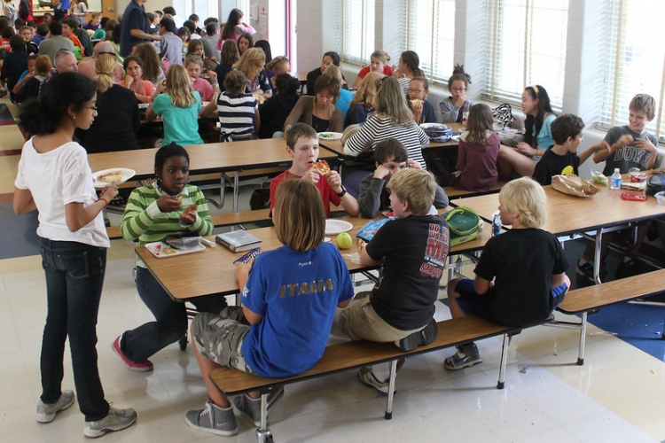 Middle school lunch room