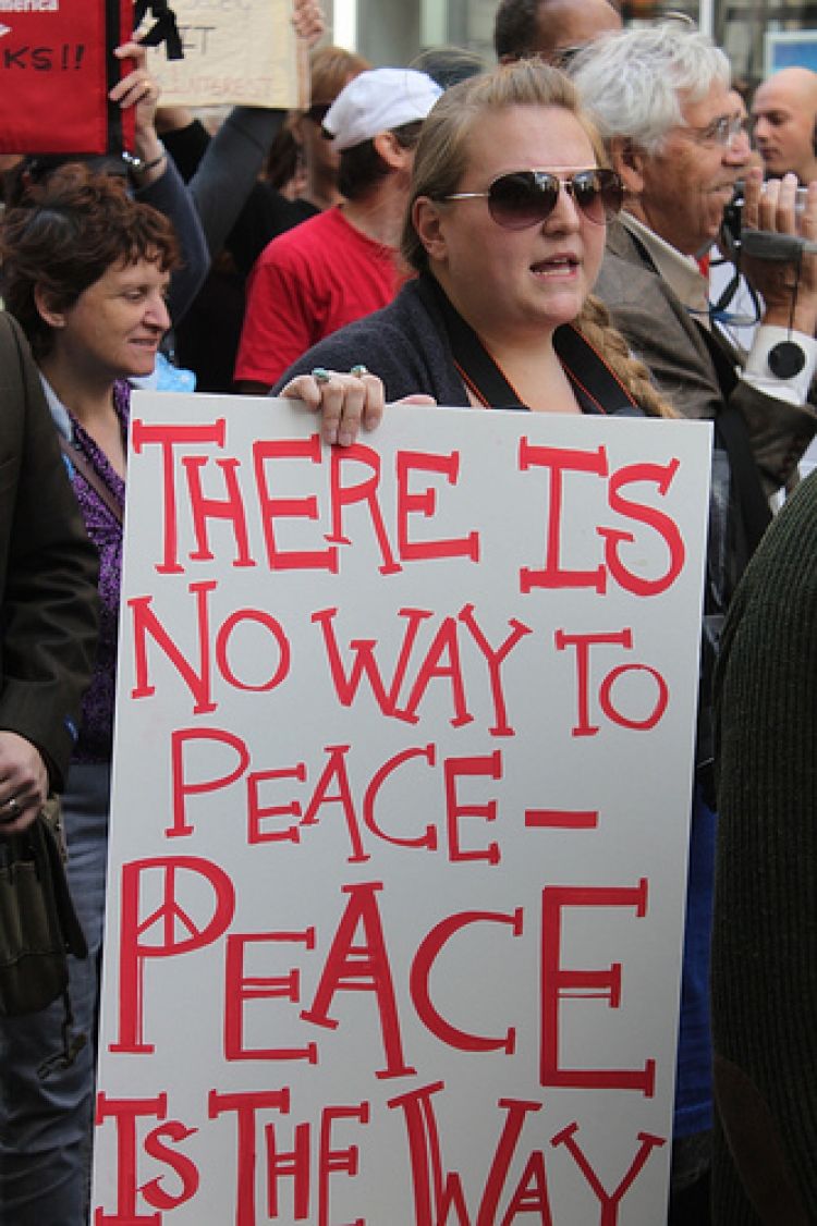 There is no Way to Peace at Occupy Philly