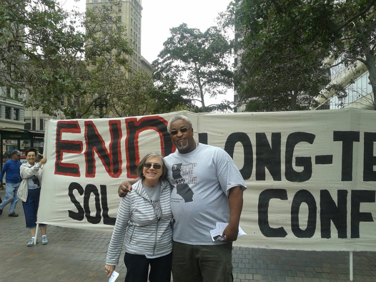 Laura Magnani and former AFSC staffer Jerry Elster.