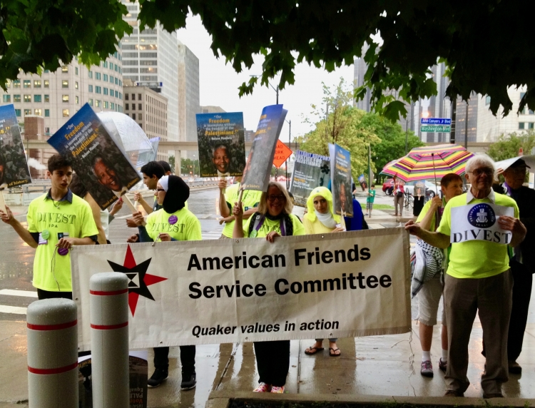 AFSC staff and partners call for divestment
