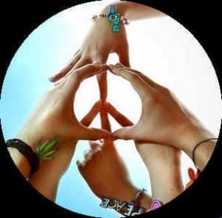 Hands In Peace Sign American Friends Service Committee