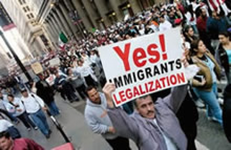 A demonstration for immigrant's rights