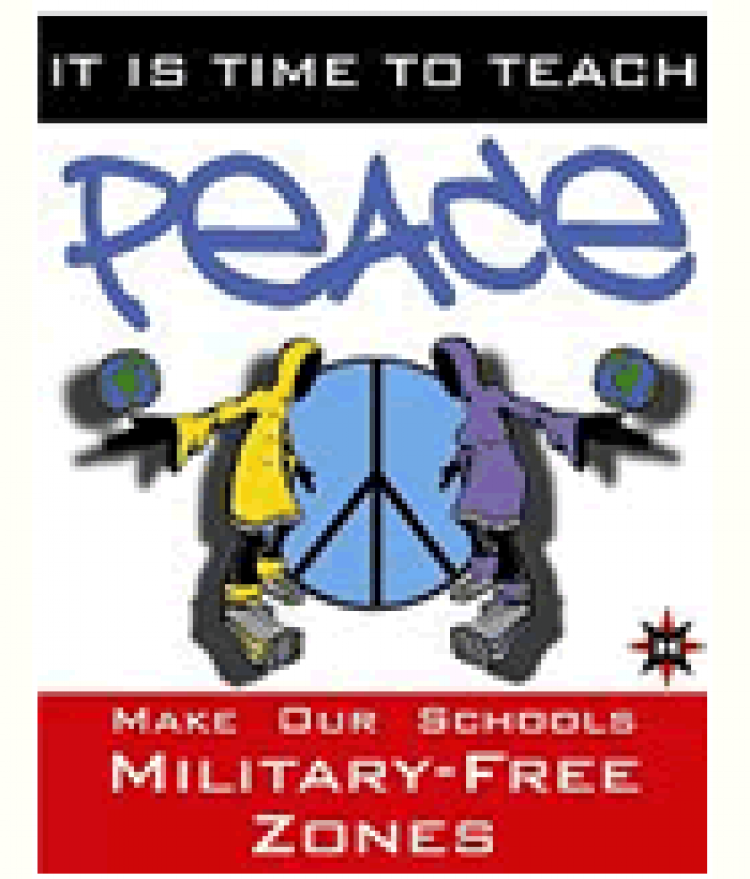 Cover for the It Is Time To Teach Peace flyer