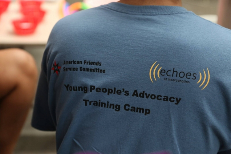 A participant at AFSC's Liberation Academy. Photo: Echoes of Incarceration