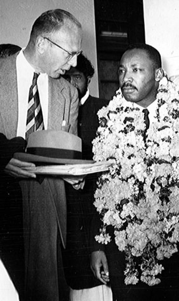 Martin Luther King, Jr. in India