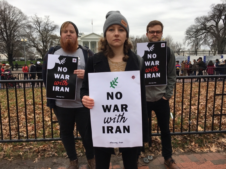 No war with Iran action in D.C.