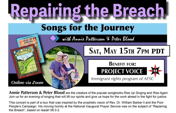 Benefit concert for OR-WA program May 15 2021