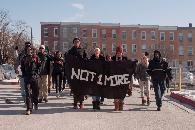 Racial justice messaging in the aftermath of Freddie Gray's death