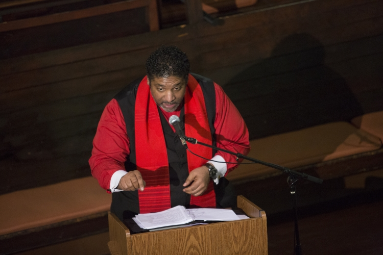 Rev. Barber preaches to the AFSC Corporation meeting