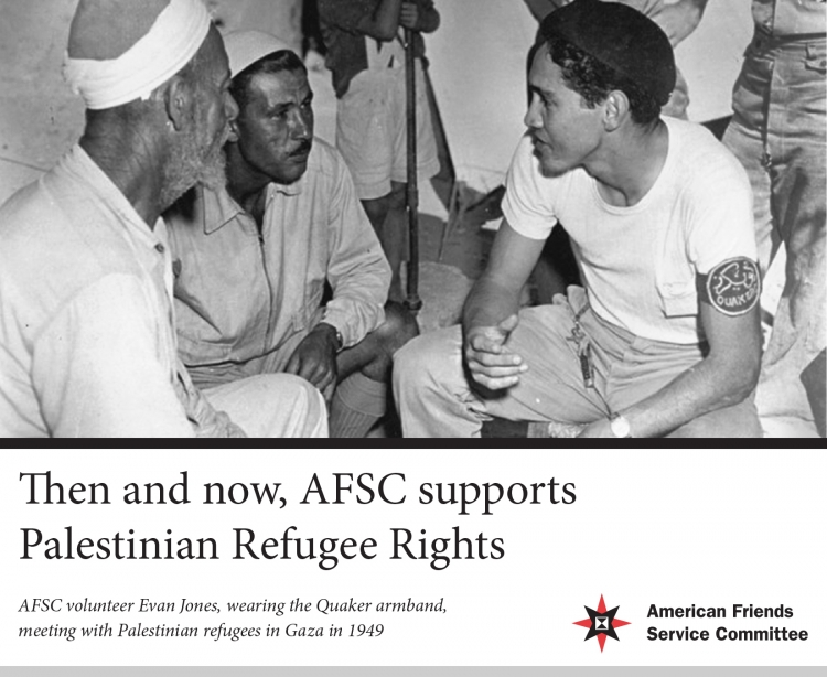 AFSC Supports Palestinian Refugees' Right of Return