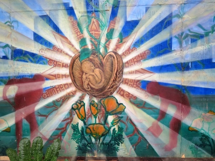 Roots for Peace mural