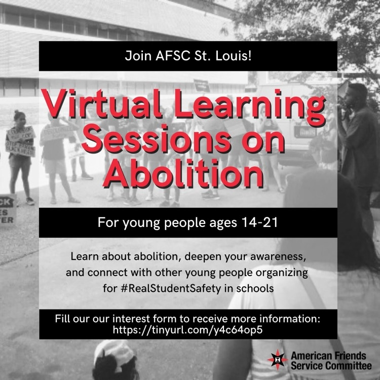 Virtual learning sessions on abolition - St. Louis