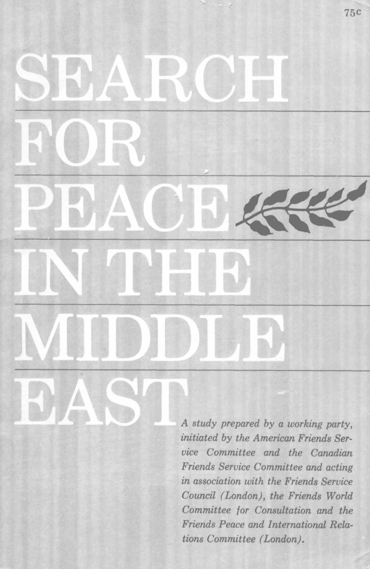 Search for Peace in the Middle East pamphlet cover