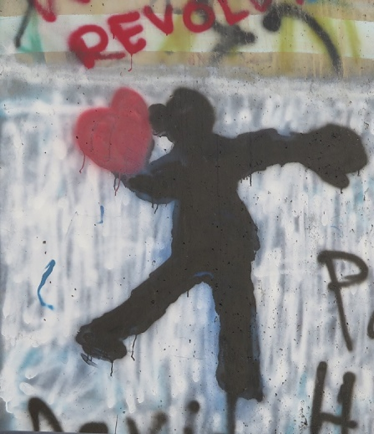 Throwing hearts, the separation wall
