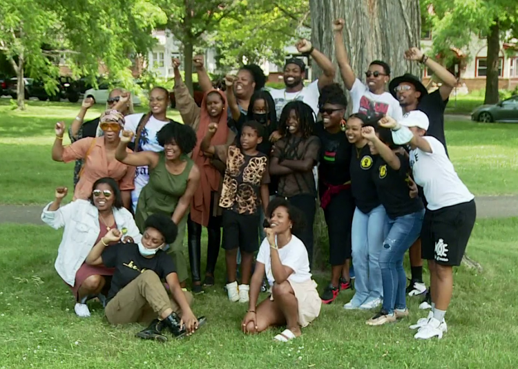 Young leaders with AFSC and Youth Undoing Institutional Racism. Screenshot: KARE11