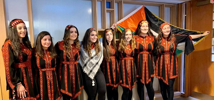"debkah dance team from a ""Palestinian Day in Arlington Heights"""